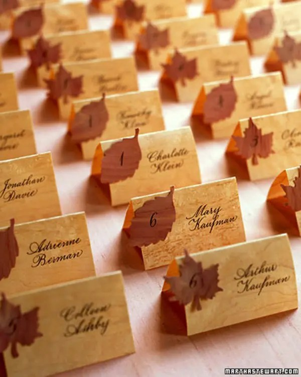 Picture Of Lovely Autumn Wedding Seating Charts And Escort Cards