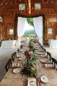 Picture Of Beautiful Barn Wedding Table Settings