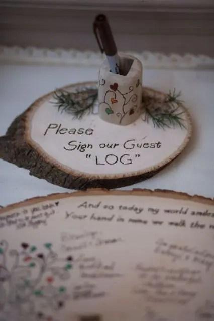 20 Creative Fall Wedding Guest Book Ideas - Weddingomania