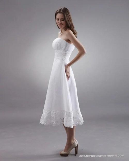 Medium Of Tea Length Wedding Dress