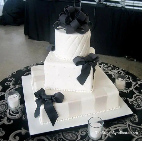 Pink Black And White Wedding Cakes With Flowers - Flowers Healthy - pink black and white weddings
