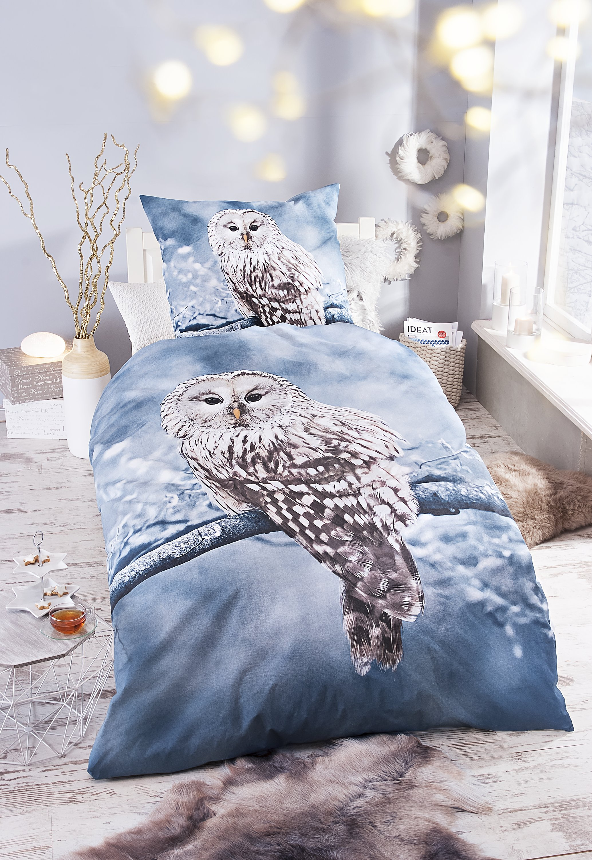 Breaking Bad Bettwäsche Bedding Snowy Owl Bettwäsche-garnitur Mit Eulen Motiv 2 X 155 Cm X 220 Cm Home, Furniture & Diy Itkart.org
