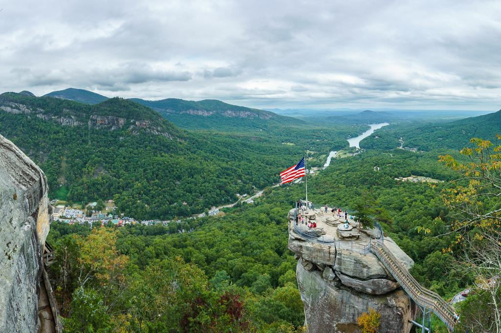Hiking In Chimney Rock Park North Carolina