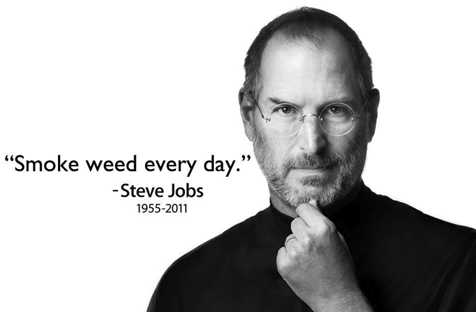 Steve Jobs Quotes Your Time Is Limited Wallpaper Steve Jobs 1955 2011 Smoke Weed Everyday Know Your Meme
