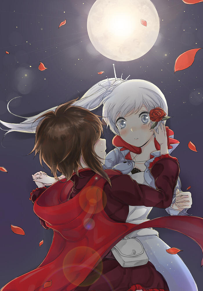 Super Cute Girly Wallpaper Ruby Rose And Weiss Schnee Rwby Know Your Meme