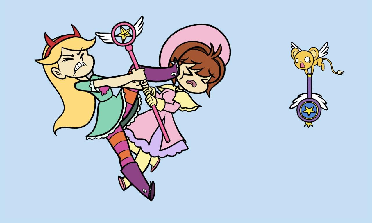 Moveing Gravity Falls Wallpapers Star Vs Sakura Card Captor Crossover Know Your Meme