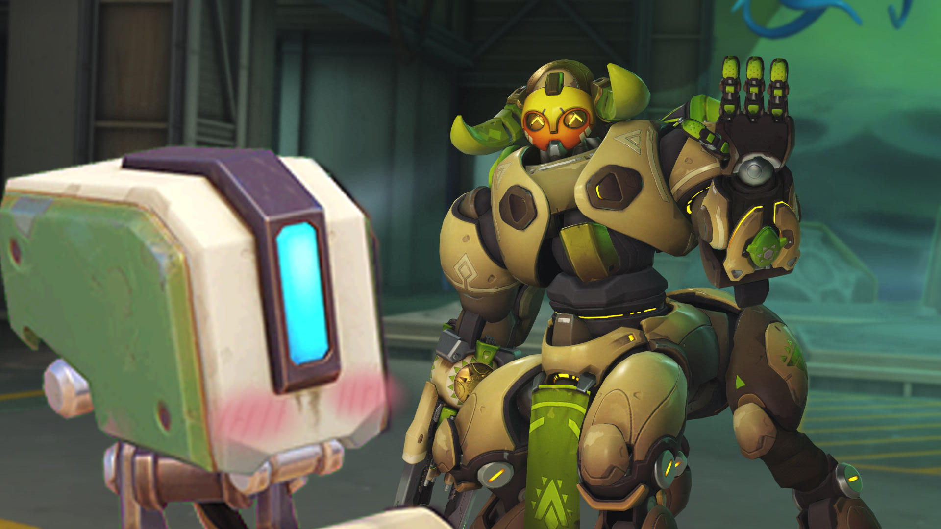 Black And White Boy And Girl Wallpaper Bastion Finds True Love Overwatch Know Your Meme