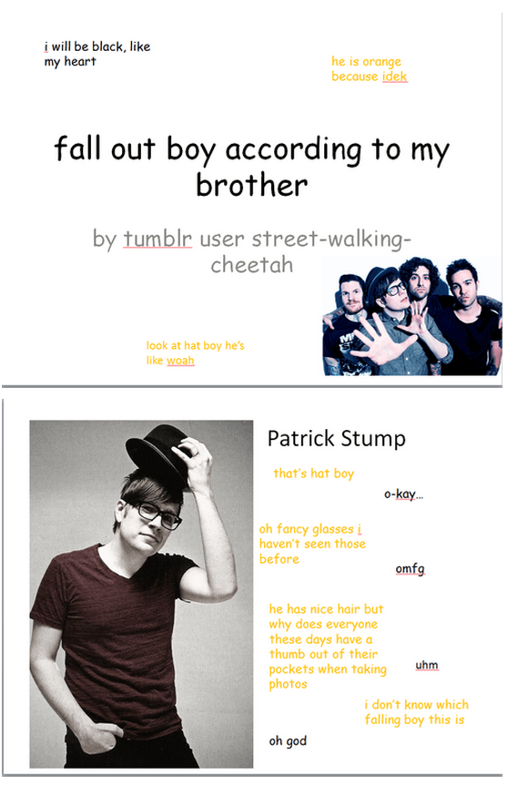 Fall Out Boy Patrick Stump Wallpaper Fall Out Boy According To Pokemon According To My Dad