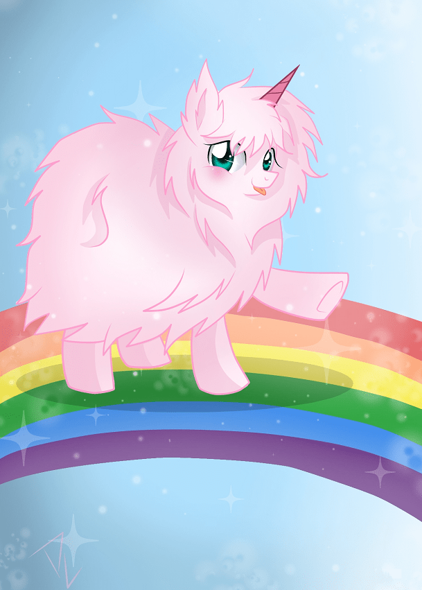 Cute Horse Wallpaper Cartoon Pink Fluffy Unicorns Dancing On Rainbows My Little Pony