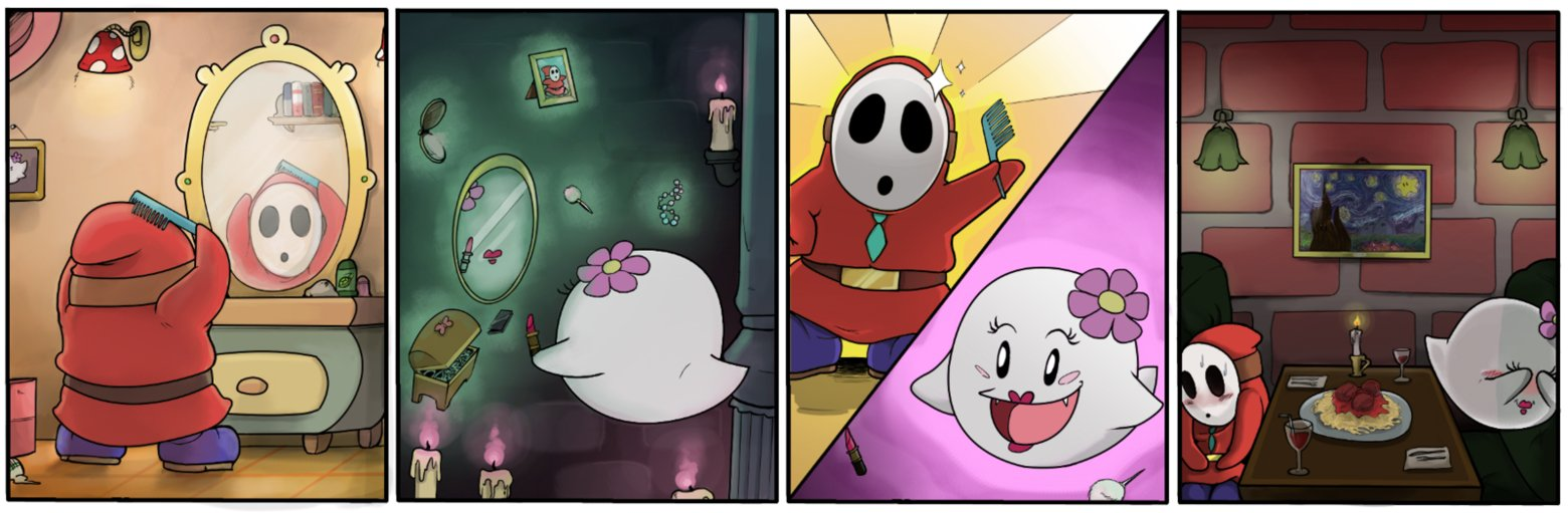Skeleton Pattern Wallpaper Cute Shy Guy And Female Boo Twice Shy Video Game Logic Know