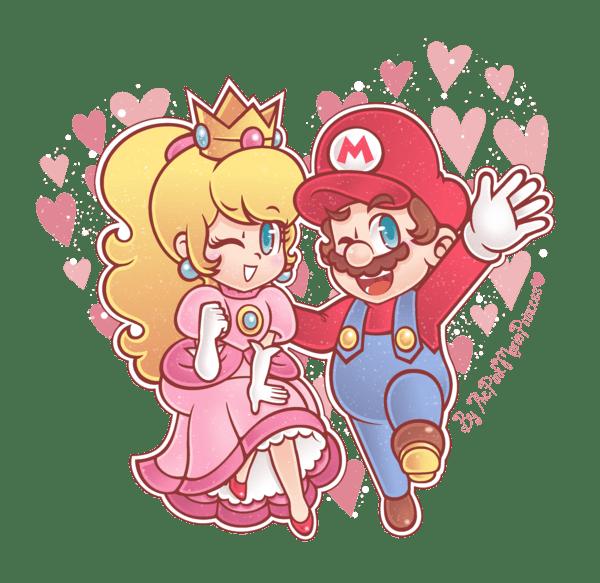 Cute Little Girl Wallpaper Cute Art Of Mario And Peach Super Mario Know Your Meme