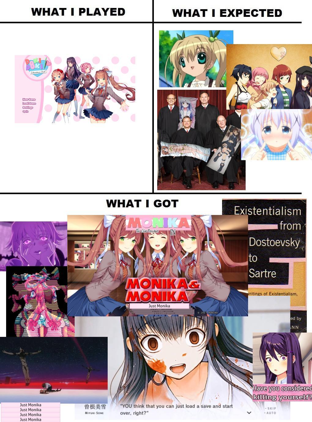 Doki Literature Club Ddlc Monika Sayori Meme Parody Auto L5740 Kubota Wiring Diagram Pretty Accurate