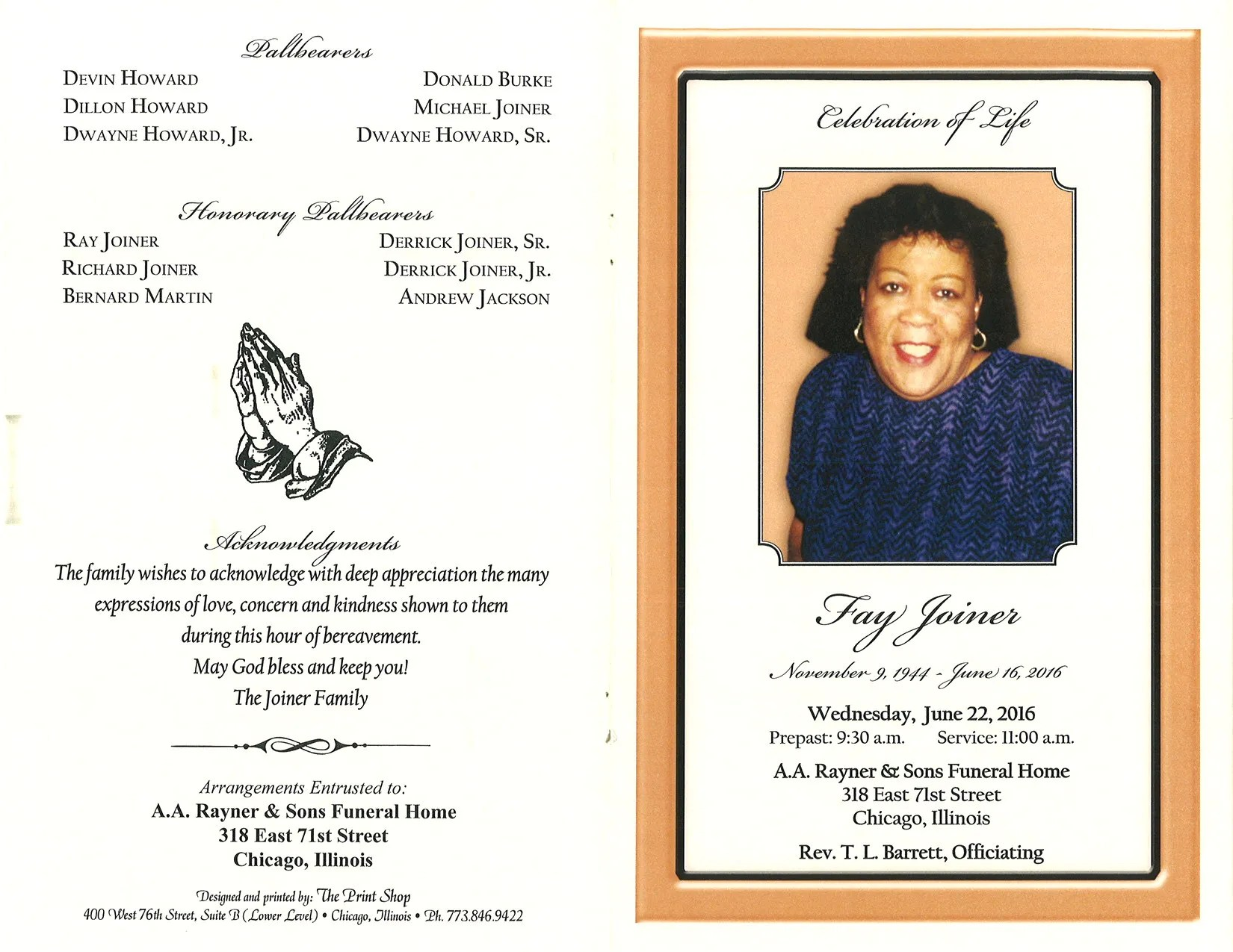 Fay Joiner Obituary Aa Rayner And Sons Funeral Home