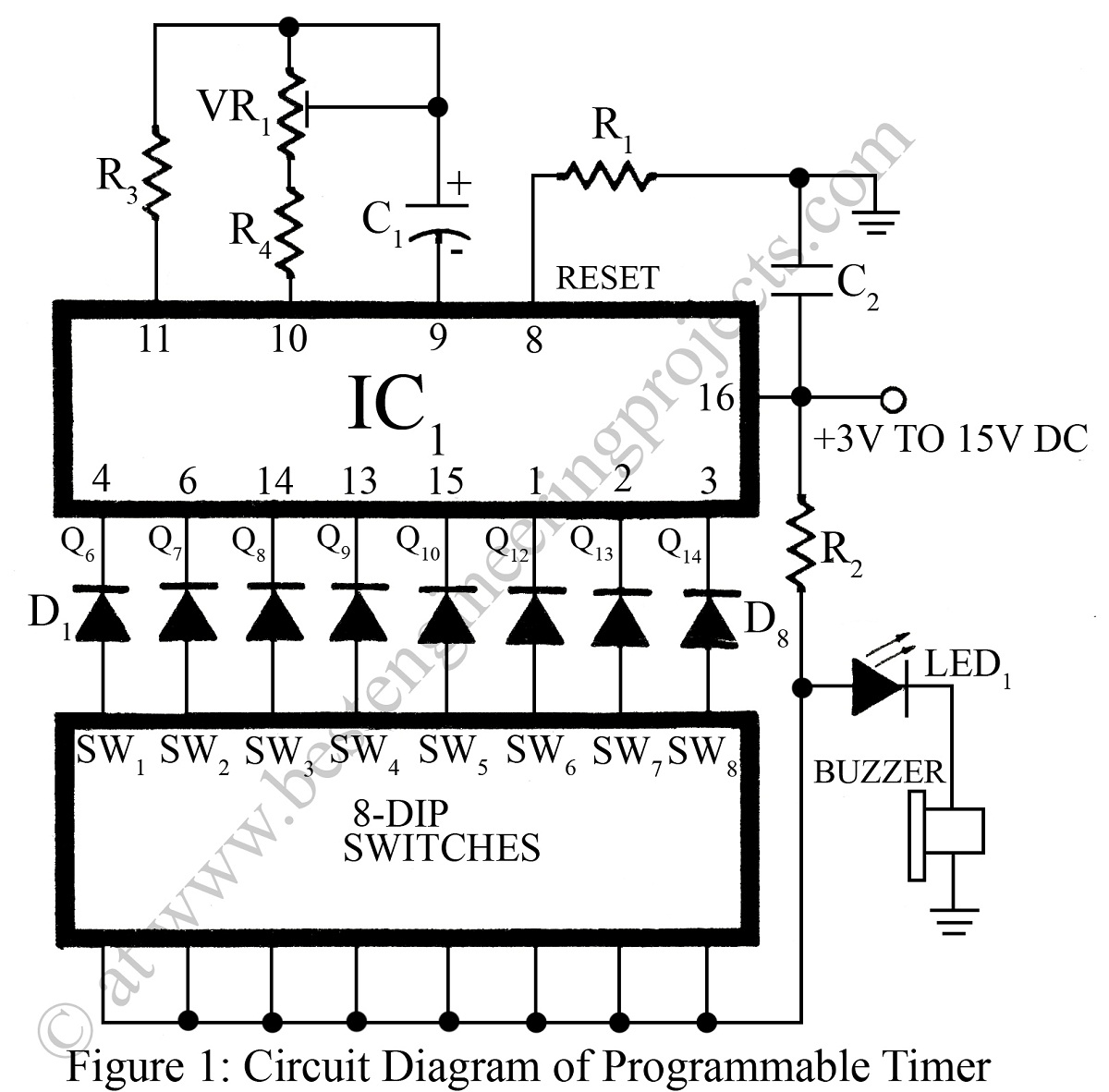 60 counter circuit diagram