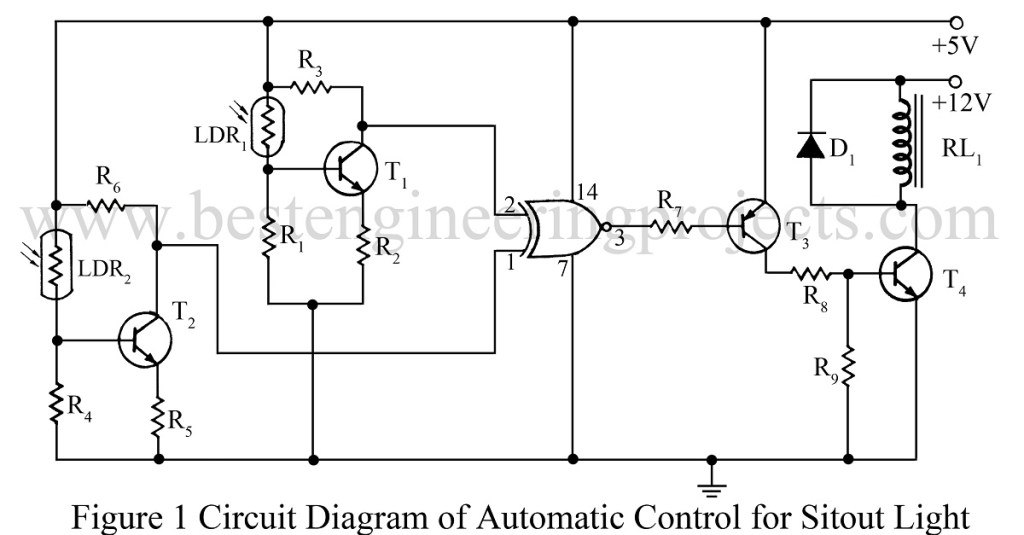 circuit diagram for ldr based automatic lamp