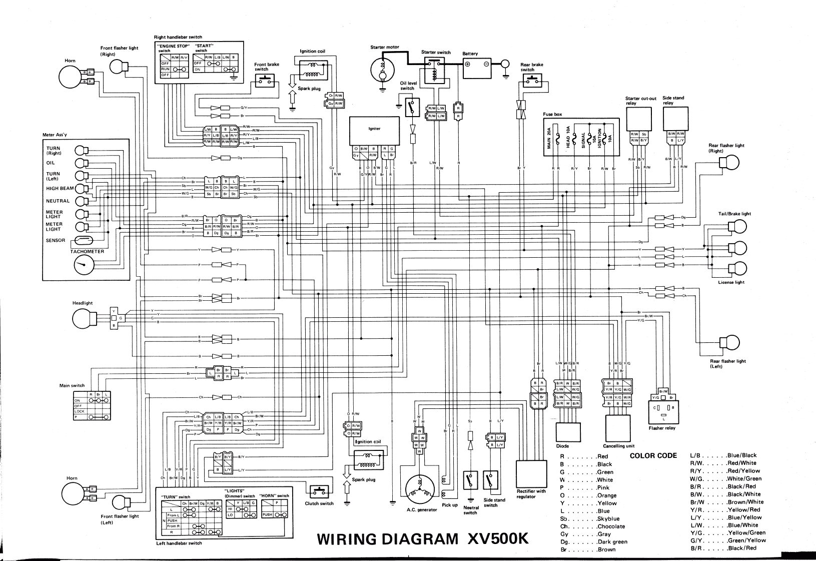 wiring diagrams for yamaha xs750
