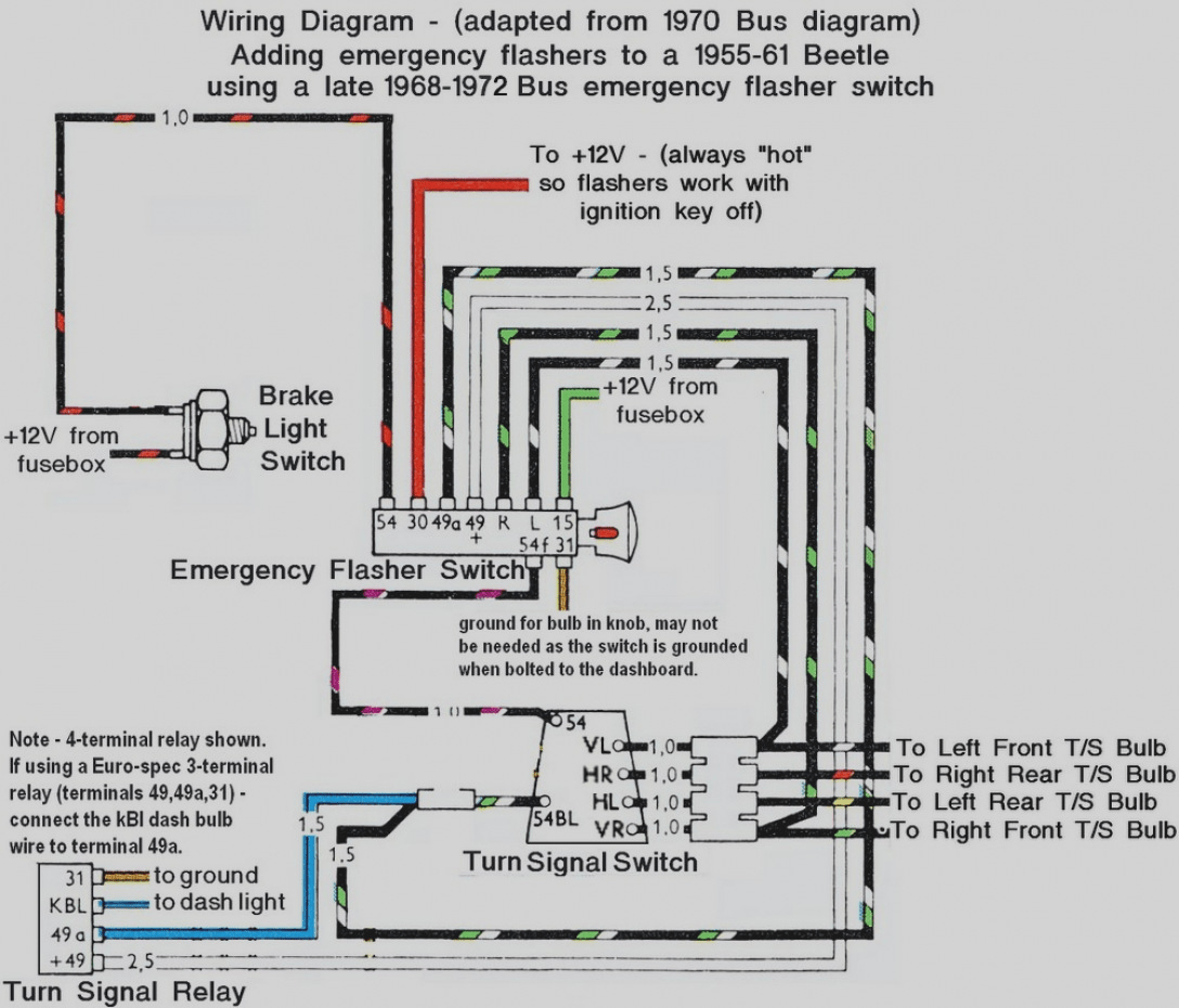 68 dash lights diagram