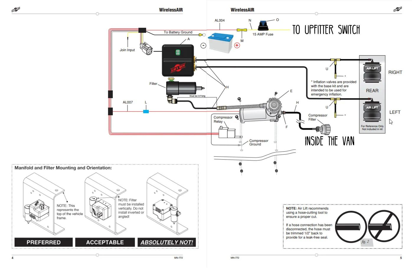 air suspension compressor wiring diagram