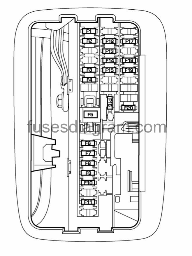 1994 dodge dakota interior fuse box diagram