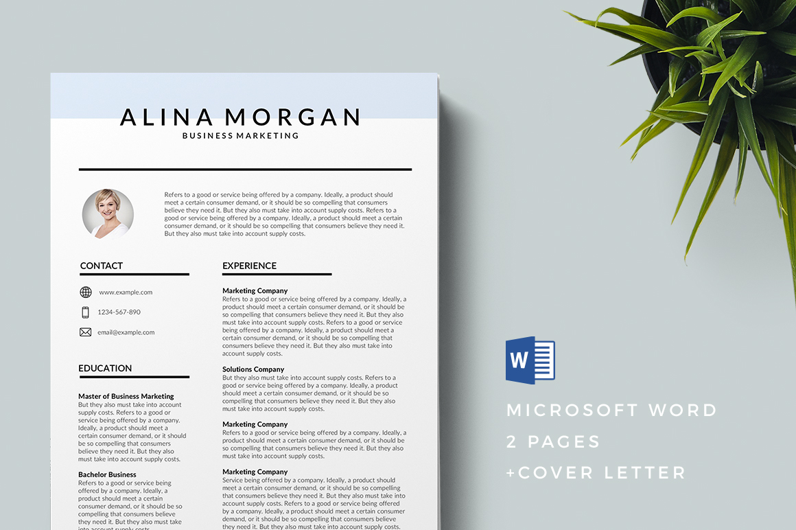 keynote resume template