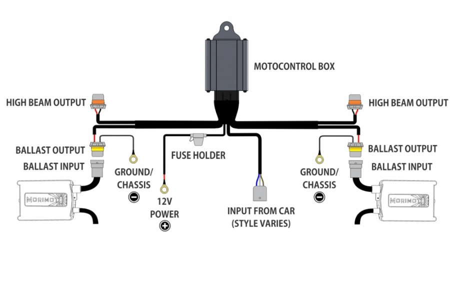 wiring diagram for xenon lights
