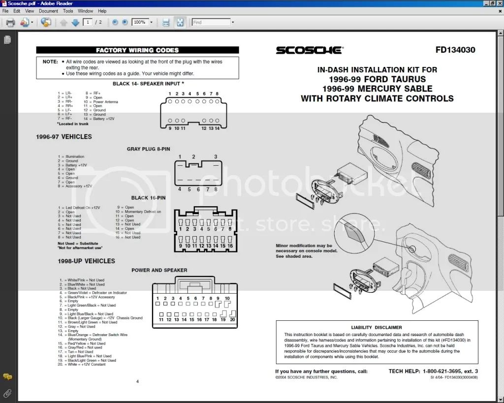 scosche wiring harness for select ford vehicles