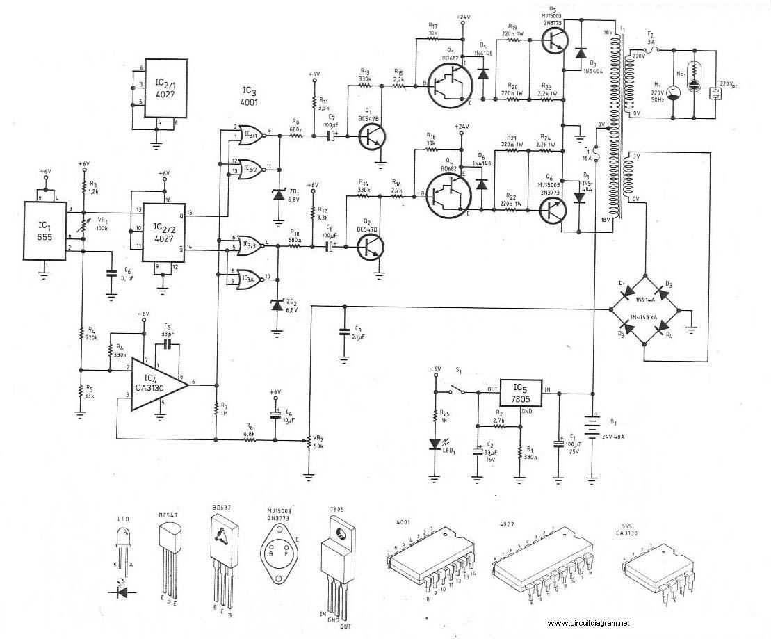 scr mini power inverter schematic