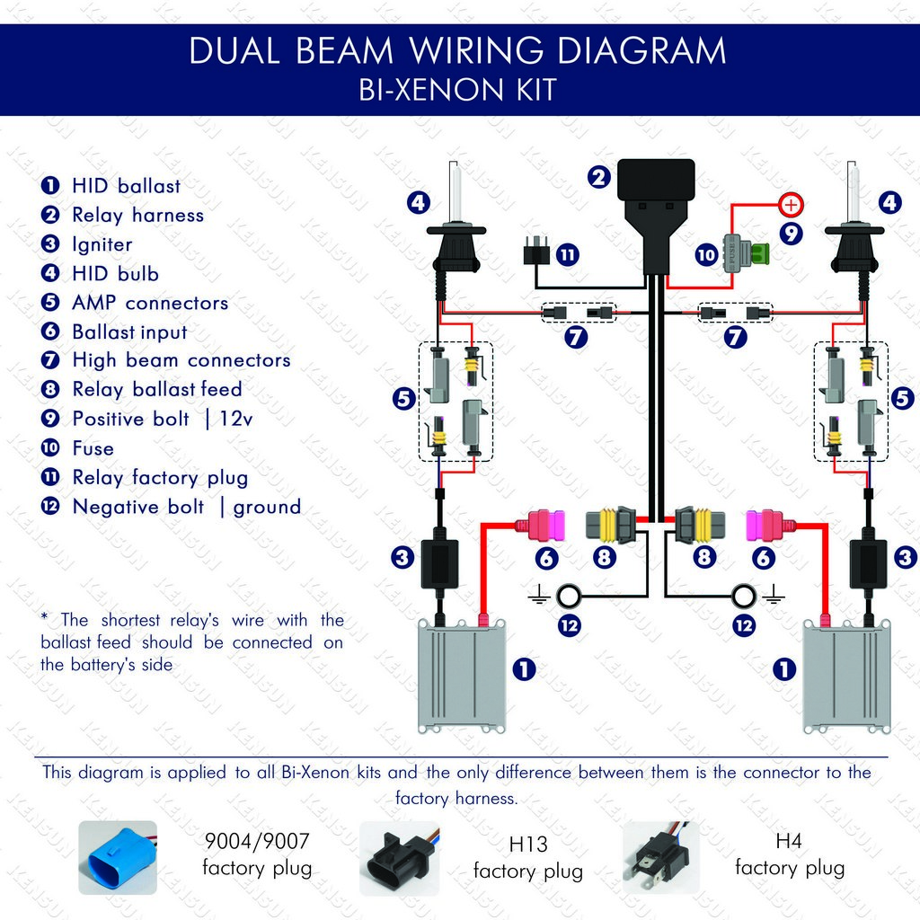 high low hid h4 9003 wiring diagram