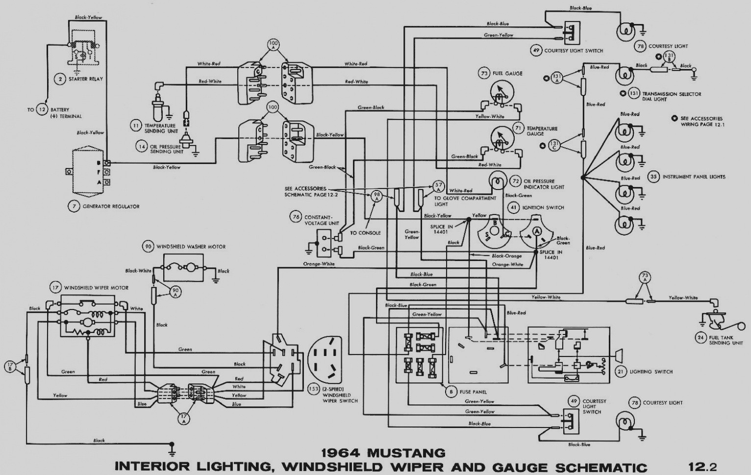 complete wiring diagram for 1973 mustang