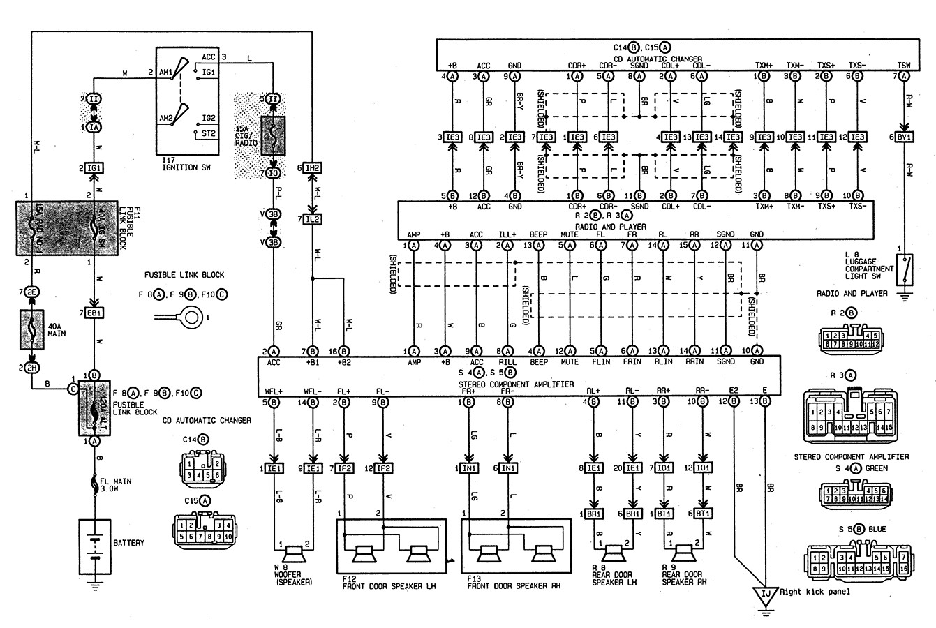 1997 toyota tacoma stereo wire diagram