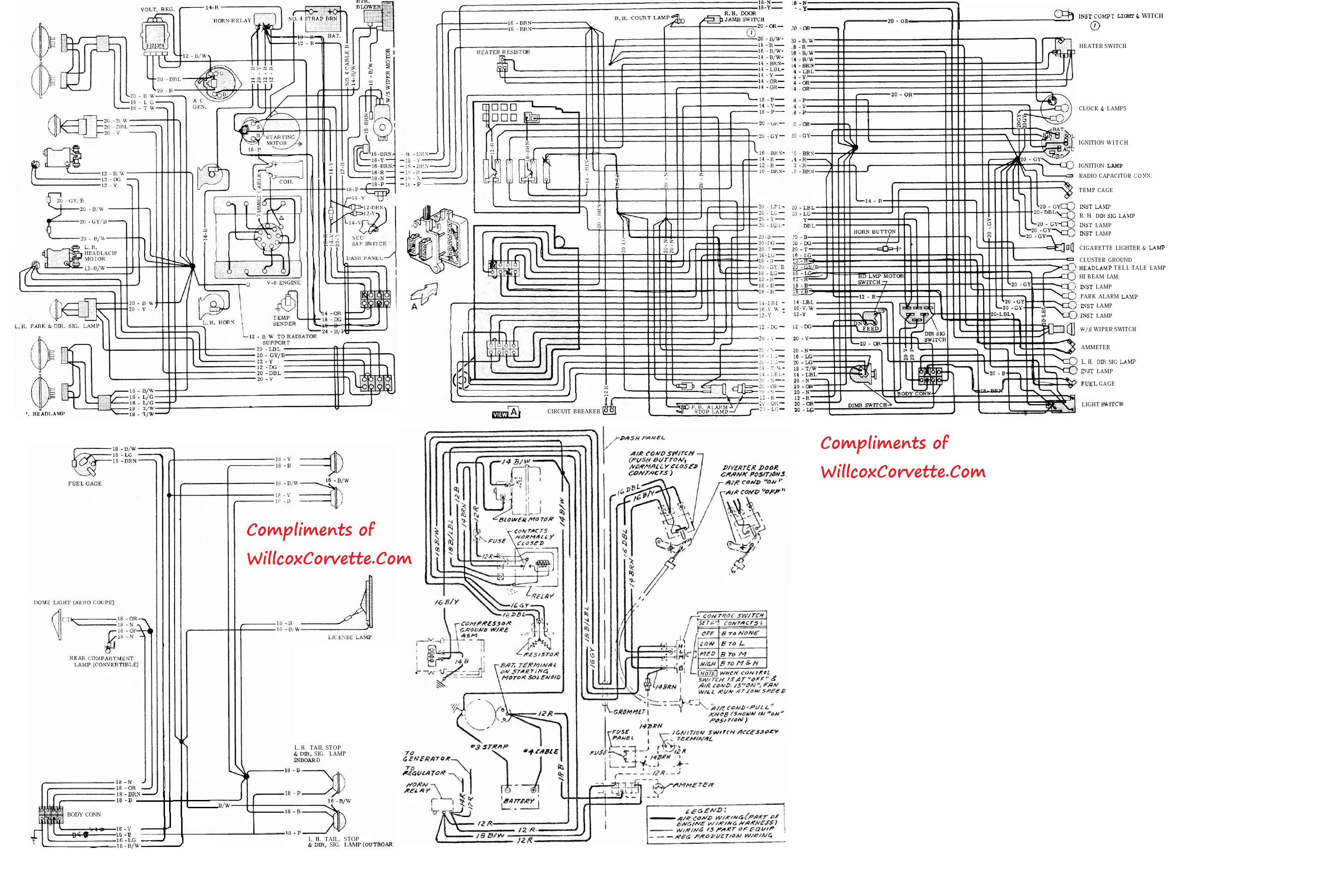 74 corvette wiring diagram schematic