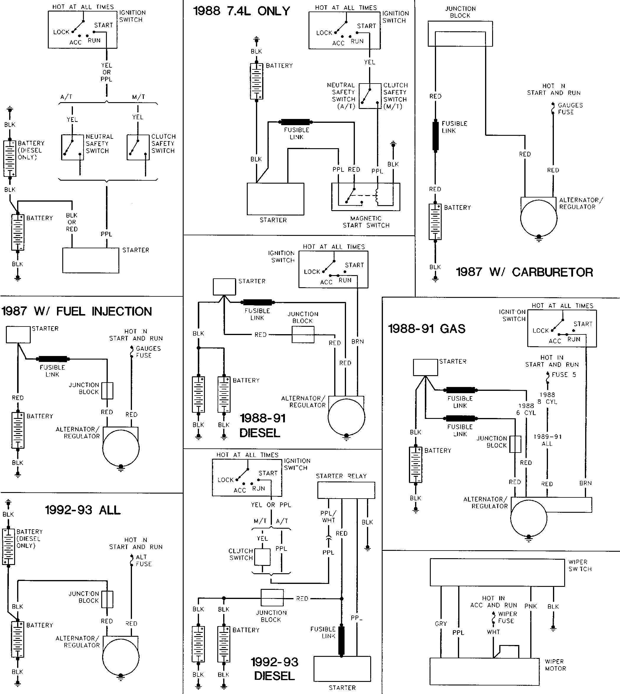 1994 nissan pickup fuse box diagram