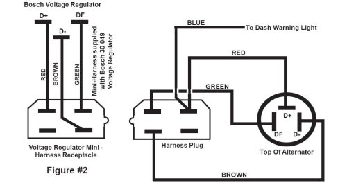 motorola alternator two wire diagram