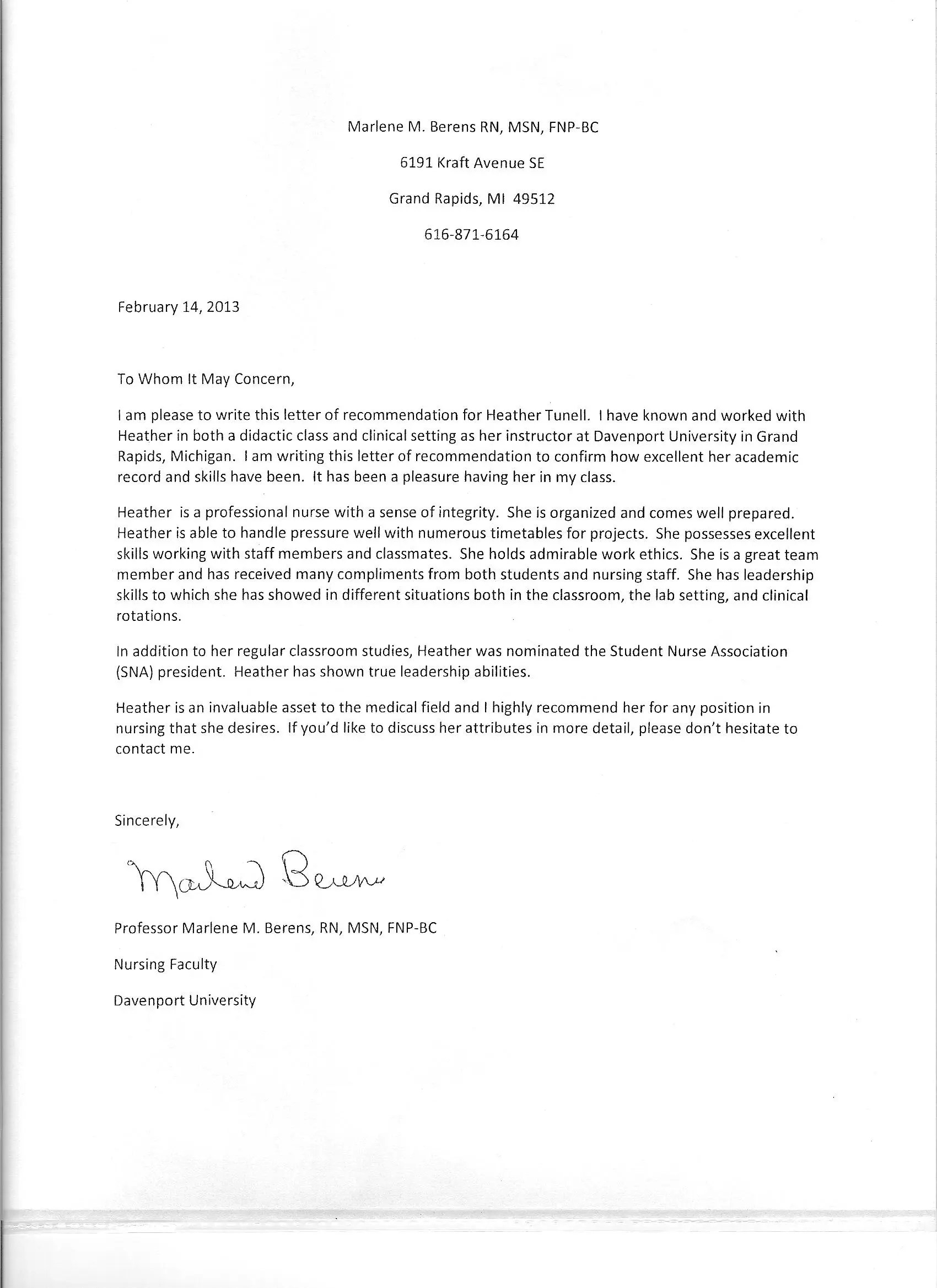 Reference Letter Template Reference Letter Template For Medical