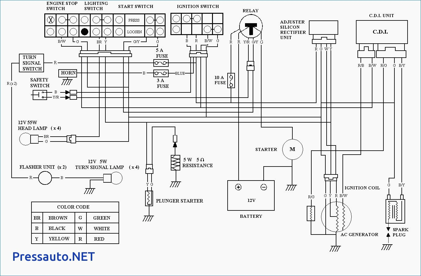 125 4 wheeler wiring diagram