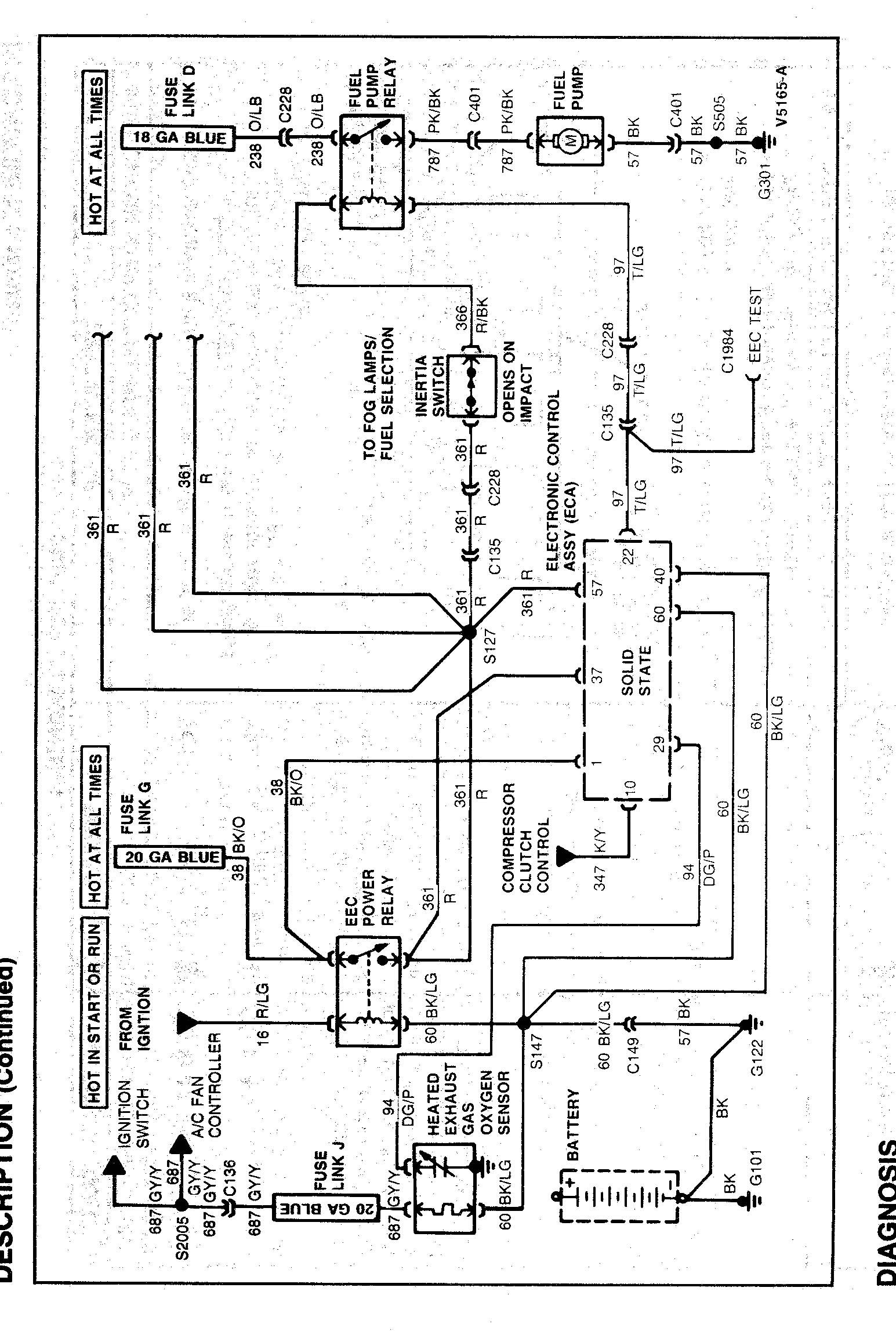 2001 s10 wiring diagram for fuel pump relay
