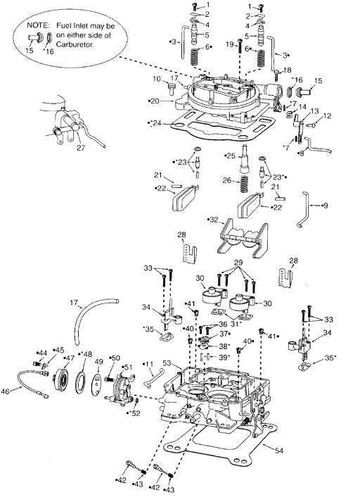 carter afb carburetor exploded diagram
