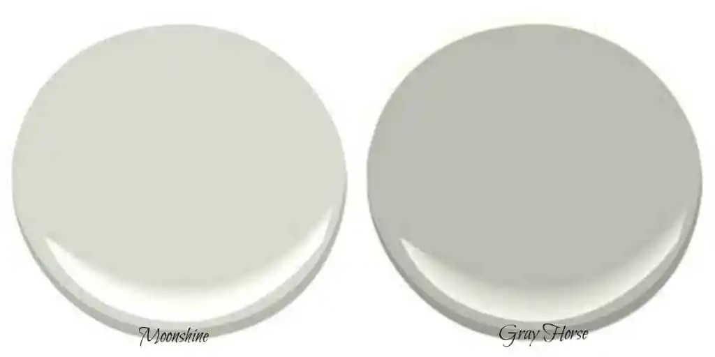 Benjamin Moore Gray Owl best green paint colours are benjamin moore moonshine and gray horse. These paint colors are ...