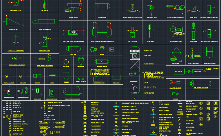 standpipe riser and valves in autocad