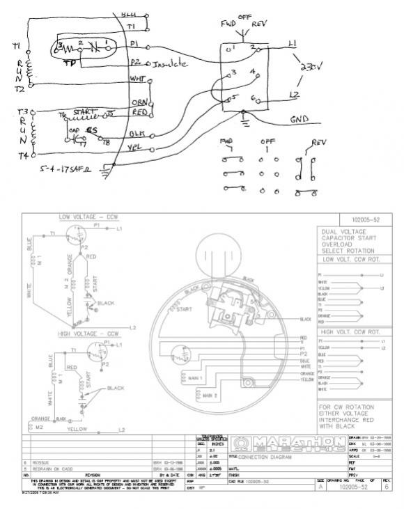 marathon electric motor reversible wiring diagram motor repalcement