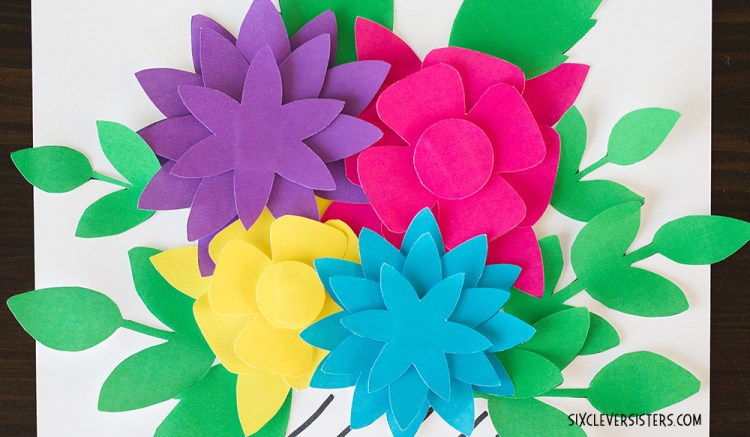Pretty Paper Flowers Free Printables Six Clever Sisters