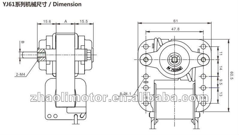 Cross Flow Air Blower Electric Fireplace Motoryj61 16100