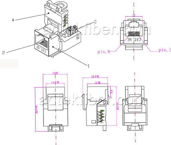 cat5e keystone jack wiring