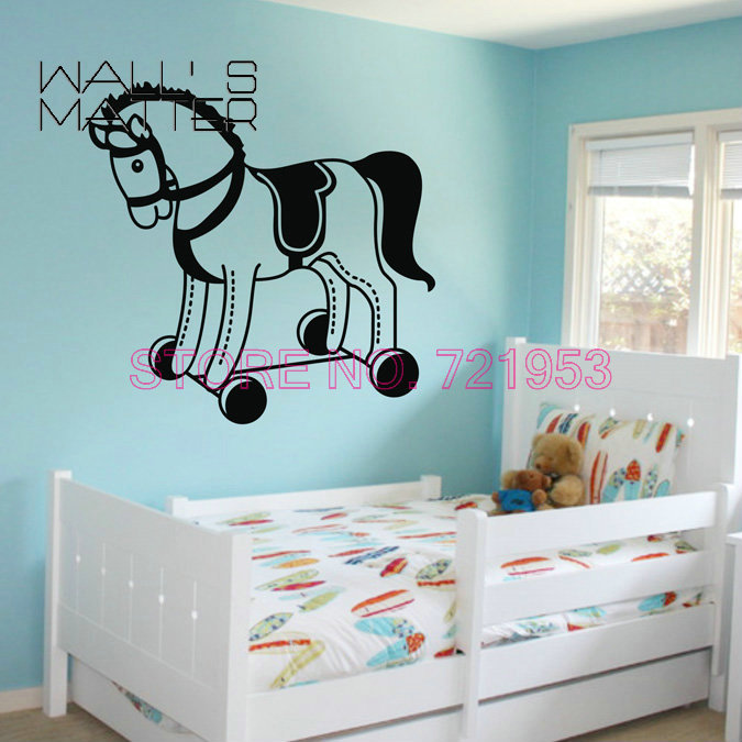 small horse wall stickers kids bedroom children bedroom nursery cute animal wall sticker children bedroom