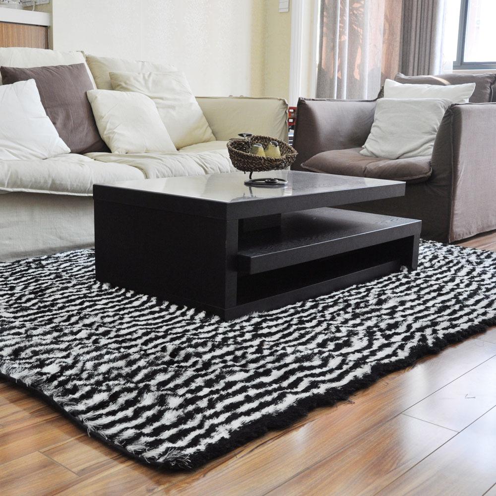 Zebra rug black and white stripe zebra living room carpet bedroom
