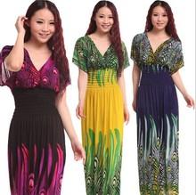Vestidos de hippie Aliexpress longos cores diversas