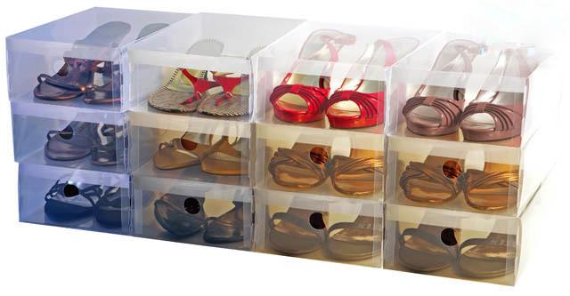 Kotak Sepatu Transparan Clear Shoe Box