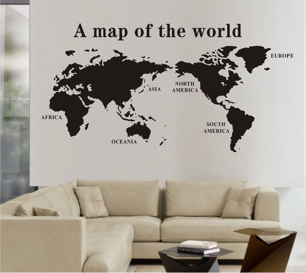 discount world map wall stickers decal world maps wall mural art home wall decals tree wall murals tree wallpaper tree wall stickers