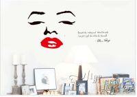 marilyn monroe home decor art wall stickers diy bathroom ...