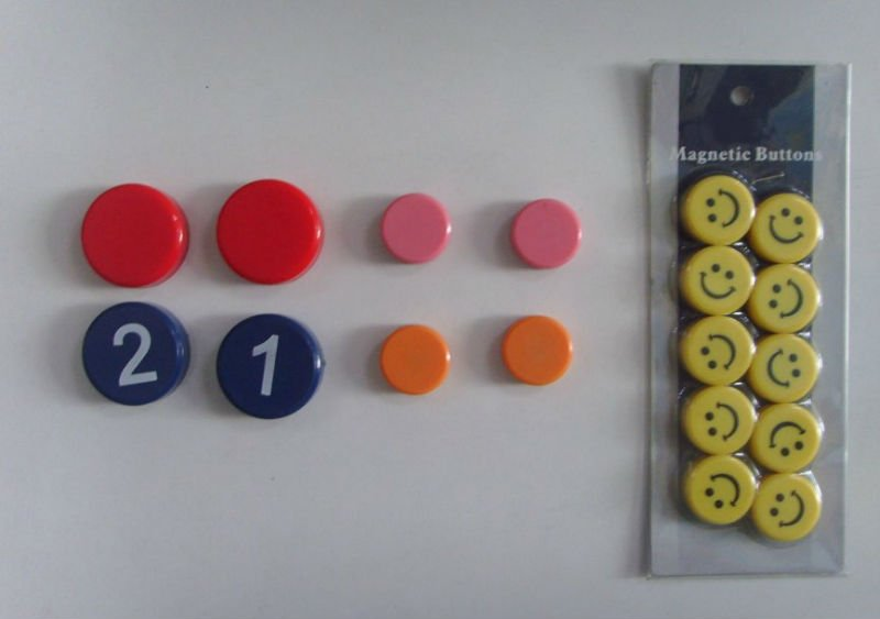 Plastic Magnetic Buttoncolorful Magnetic Paper Holder